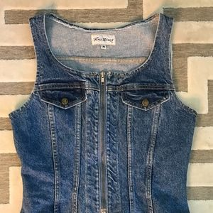 Paris Blues Jackets & Coats - Denim Vest/Corset Top